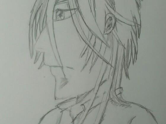 Makishima Bleistiftzeichnung