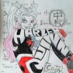 Harley Quinn - Abgezeichnet (002)