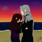 Sephiroth tröstet Kisaki