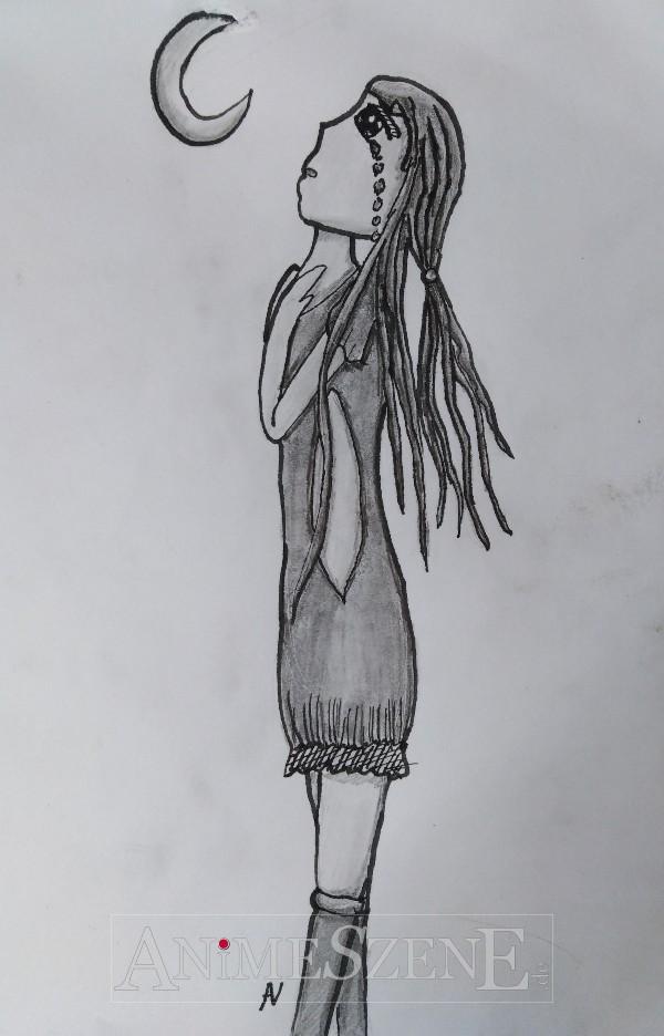 Tusche-Bleistiftzeichnung
