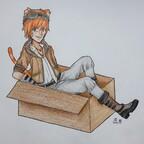 Simeon in einer Kiste