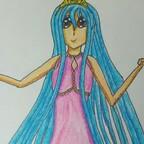 Blauhaariges Mädchen