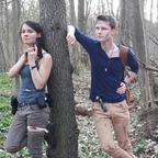 Lara Croft und Nathan Drake Cosplay