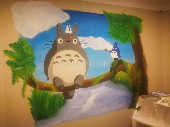 Totoro on the wall