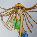Mädchen mit orangenen Haaren