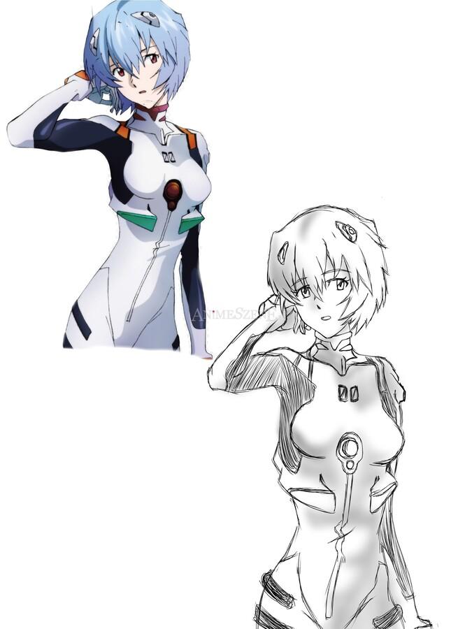 Kopierübung - Rei Ayanami