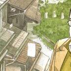 Mann mit Brille steht in einer Straße und schaut sich die Gegend an