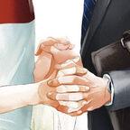 Zwei Männer halten Händchen